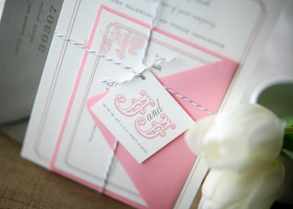 invitations suite with bakers twine