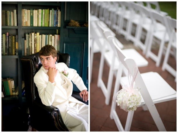 outdoor wedding white chairs