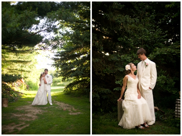 bride and groom outdoor pics